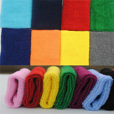 2*Unisex Sports Sweat Sweatband Handband Yoga Gym Stretch Wrist Band