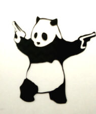 PANDA SHOOTING VINYL CAR, TRUCK, LAPTOP, WINDOW DECAL STICKER 5 1/2'