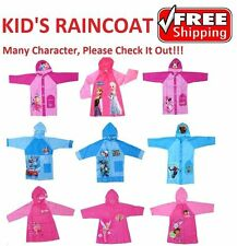 NEW Sz 3~7 RAINCOAT UMBRELLA RAIN COAT DRESS JACKET GIRLS KIDS BOYS CARS FROZEN
