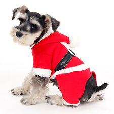 Christmas Gift Dog Costumes Santa Pet Clothes Cat Puppy Apparel Red Clothing