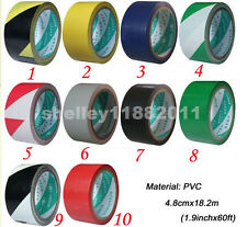 Floor Boundary Safety Caution Hazard Warning Tape PVC 60ft 10 Colors By Choice