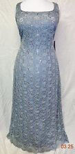 14W 16W  R&M Richards Plus Size Sleeveless Sequined Lace Dress and Jacket 2PC