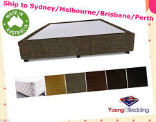 New Bed Base Ensemble w/ upto 4 Drawers options in Various Upholstery Fabrics