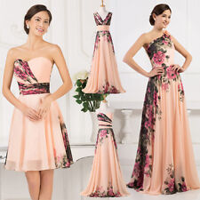 2015 Plus Size Long/Short Formal Prom Wedding Evening Dress Bridesmaid Gowns New