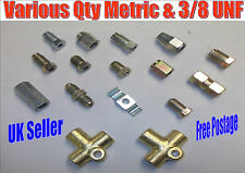 Brake Pipe Ends Fittings Connectors Unions Metric & 3/8 UNF Inc 2 & 3 Way