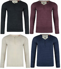 MENS TOP LONG SLEEVE T SHIRT TOP WAFFLE BUTTON UP INKERSALL BNWT