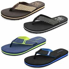Mens Dunlop Flip Flops Beach Summer Walking Toe Post Textile Sandals Shoes Size