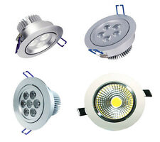 LED Down Light Recessed Ceiling Round SpotLight Day/Warm White Tilt COB spot