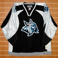 Augusta Lynx ECHL CCM Authentic On Ice Game Issued Black Hockey Jersey