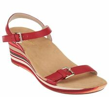 Vionic by Orthaheel Enisa Red Wedge Sandals
