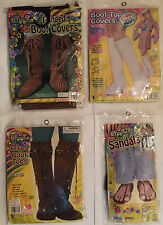 Adult Hippie-60's Groovy Boot covers, Boot Tops and Sandals costume Accessories