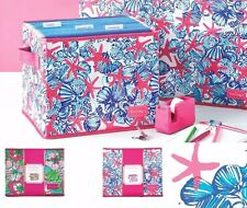 Lilly Pulitzer Organizational Bin - Medium She She Shells Big Flirt NEW Dorm