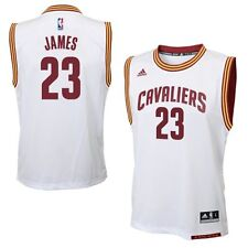 New LeBron James # 23 Cleveland Cavaliers Adidas Replica Youth White NBA Jersey