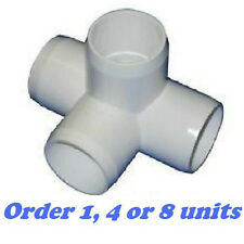 "1"" 4-Way Corner Elbow PVC Fitting Connectors - 1  inch 4 way PVC FITTING"
