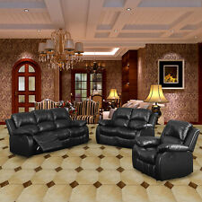 Hot Sale Black Brown Recliner Sofa Suite Valencia 2/3/5 Seater Bonded Leather UK