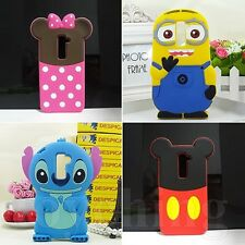 3D Stitch Minnie Disney Cartoon Soft Silicone Back Case Cover For LG G2 D802
