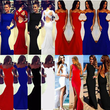 Women Bodycon Long Maxi Dress costume clothing vintage Mermaid Ball Gown clothes