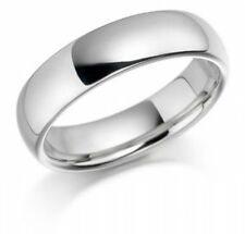 925 Sterling Silver Womens Mens 6mm D Shape Wedding Band Ring  All Sizes