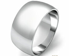 925 Sterling Silver Womens Mens 8mm D Shape Wedding Band Ring  All Sizes