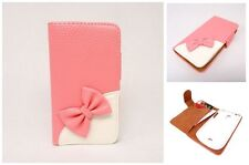 Pink Wallet 3D Bow bowknot Book Pouch Flip Leather Case Cover for MOBILE PHONE 1
