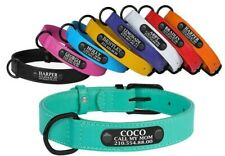 Leather Martingale Collar Greyhound Whippet Lurcher Dog Personalized ID Tag Soft
