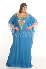 NEW DUBAI VERY FANCY MODERN JALABIYA JILBAB GEORGETTE CAFTAN ARABIAN DRESS  4798
