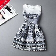 New Fashion summer dresses for women vestidos de festa Retro sleeveless dresse