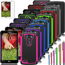 Hybrid Impact Rugged Rubber Dual Layer Hard Case Cover For Lg g2/Lg g3 Optimus