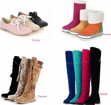 Women's Ankle Mid-Calf Knee High Over The Knee Boots Low Heel Shoes AU Sz ZHR02