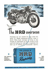 1948 HRD VINCENT MOTORCYCLE MAGAZINE AD ARTICLE SERIES B BLACK SHADOW RAPIDE