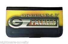 GREEN BAY PACKERS SAMSUNG GALAXY iPHONE CELL PHONE CASE LEATHER COVER WALLET