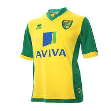 OFFICIAL NORWICH CITY FOOTBALL CLUB 2013-14 HOME SHIRT