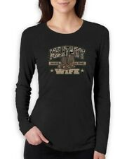 Military Wife Soldier Support Army Navy Marine Force  Women Long Sleeve T-Shirt
