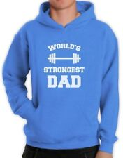 Fathers Day Perfect Gift Idea Worlds Strongest Dad Gym Hoodie Cool Mens Pullover