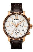 T0954173603700 Tissot Quickster Mens Watch Brown Leather StrapT095.417.36.037.00