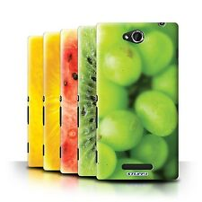 STUFF4 Back Case/Cover/Skin for Sony Xperia C/C2305/Fruit