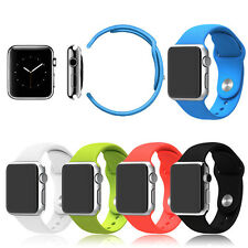 Strap Bracelet Band Silicone Fitness Replacement for Apple Watch Strap 38mm/42mm
