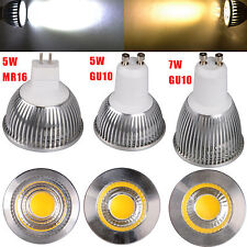Ultra Bright 5W 7W MR16 GU10 LED COB Spot down light lamp bulb 85-265V COOL/WARM
