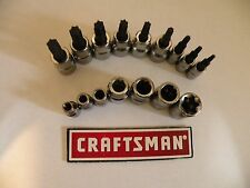 New Craftsman 1/4 or 3/8 Dr Drive Torx Bit Socket Reg or External Choice of Size