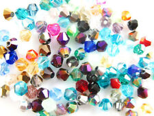 Bulk Lots 100Pcs Crystal Glass Bicone Faceted Loose Beads Spacer Finding 6mm