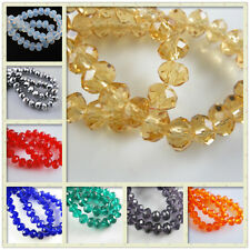 Wholesale 100-1000ps Glass Crystal Faceted Rondelle Beads 3x2mm Spacer Findings