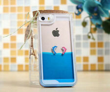 Cute Aquarium Aqua Dolphin Tank Hard Water Apple iPhone 4,  5, 5S & 6 Cover Case