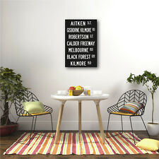 Personalised Word Canvas 50x75cm Add Your Custom Text 7-8 lines bus roll print