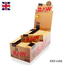 Genuine RAW Classic SINGLE WIDE Rolling Papers Cigarette Smoking Paper FULL BOX