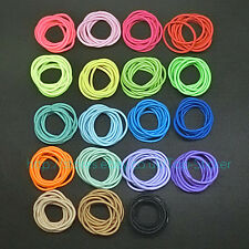 30 PCS Thick Endless Snag Free Hair Elastics Bobbles Bands Pony Tails Colours GB