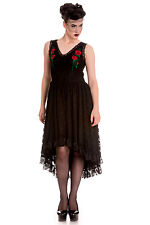 Hell Bunny ~ Spin Doctor ~ Selena Dress ~ Gothic Alternative Roses Black Lace