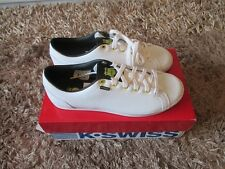 K Swiss  Boys All Court Trainers. White. Sizes 4, 5 (2617951/78 S3)