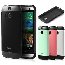 2014 NEW SLIM PROTECTIVE PREMIUM IMPACT HYBRID CASE COVER FOR HTC ONE M8