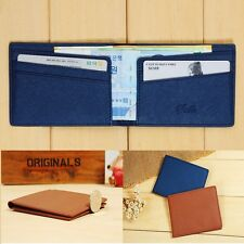 Mens Faux Leather Pocket Size Jeans Wallet Thin Money clip Credit Card Holder