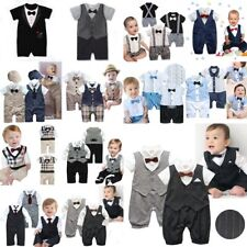 Baby Boy Wedding Christening Formal Party Tuxedo Suit Dress Outfit Clothes 0-24M